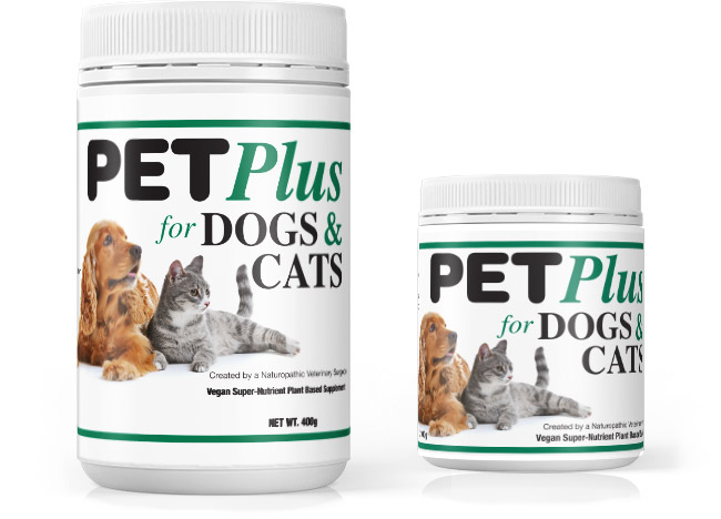 PET Plus nutritional supplement for healthy cats and dogs
